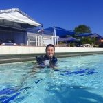 PADI IDC Australia. IDC Student delivering her confined water briefing