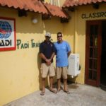 PADI Course Director and dive operations manager. Waiting for candidates to arrive on day one of IDC
