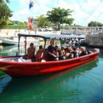 "One of the 7 Pro Dive Mexico dive boats in the Riviera Maya. IDC candidates going out for a ""fun"" dive"