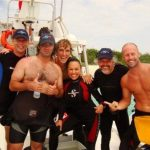 IDC Open water presentation. Candidates and Course Director with Scuba Pro Managers
