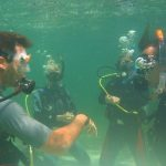PADI IDC Phiippines. Students watching the Instructor