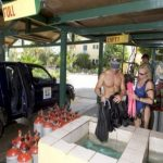 Dive center drive thru - yes its true!