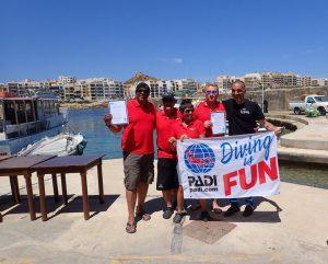 New PADI Instructors in Gozo