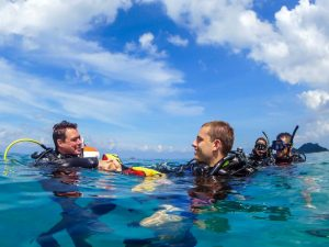 Learning how to become the best Diving Instructor with IDC courses in Thailand