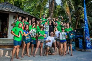 No plastic at Sairee Cottage diving with Marcel van den Berg the Divemaster and Instructor at Koh Tao, Thailand